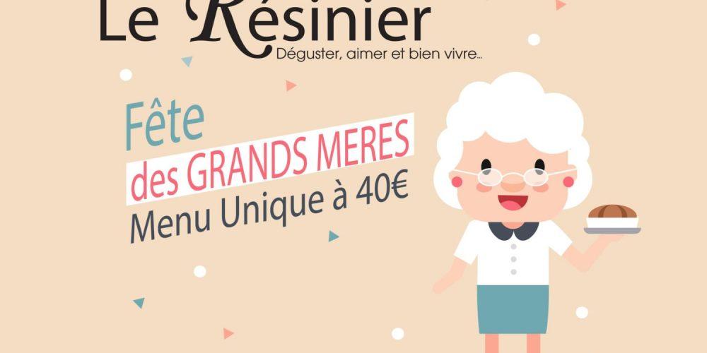 Dimanche 3 Mars 2019 : Menu Spécial Fête des Grands-Mères !